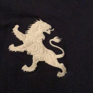 Express Shirts - Express Pique Oversized Lion Polo, L
